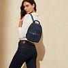 """Mayfair, Beauchamp XS 15"""", Backpack, Dark Navy Blazer, 119-420-BLZ, Lifestyle Model Female, 1MB"""