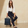 "Mayfair, Harewood, 15"", Totepack, Dark Navy Blazer, 119-413-BLZ, Lifestyle Model Female, 1MB"