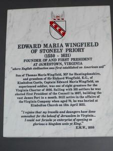 Kimbolton, St Andrews Church-Edward Maria Wingfield burial