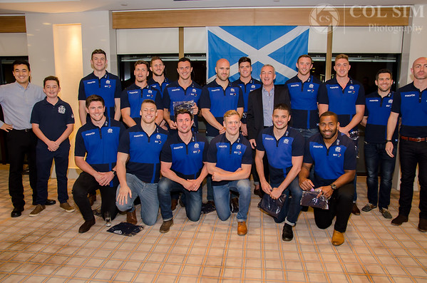 St Andrews Society Scotland 7's Team drinks