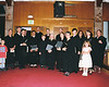 St. Ann choir and other regular singers at Our Lady of Peace with some family members.  After the final Tridentine Mass was sung at that church.