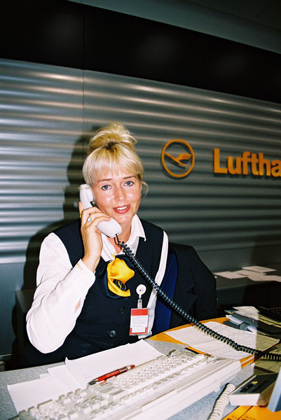 When I told Lufthansa Customer Service in the Munich airport that I couldn't find my passport, Ruth from Sweden took my boarding pass and arranged to have my luggage taken off the plane that I was supposed to take to Prague. She said, When we find your passport we will put you on the next plane to Prague at 7 tommorrow morning.  Will I have to go to a hotel? No, you cannot leave the airport without a passport.  We will give you a cushion (pillow) and blankets and you can sleep here