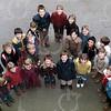 """W006<br /> De school telde toen 12 klassen. Precies genoeg om elke klas een letter te laten vormen van """"St.Annaschool"""". De foto's werden genomen vanuit het """"kaartenkamertje"""", achteraan de gang boven."""
