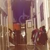W038<br /> De gang beneden, met aan het eind de deur naar het voormalige klooster.