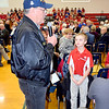 Dieterich native Illinois Army National Guard Veteran Gary Lidy of Heartville speaks during the St. Anthony Grade School Veterans Day program Friday morning. Charles Mills photo
