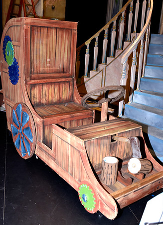"""One of the props from The Little Theatre On The Square being used for the SAHS and SAMBA presentation of """"Disney's Beauty and the Beast"""" next weekend. Charles Mills photo"""