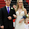 Seniors Austin Kline and Kendall Fonner smile to the crowd after being named St. Anthony 2017 Homecoming king and queen at The Enlow Center Tuesday evening.<br /> Chet Piotrowski Jr. photo/Piotrowski Studios
