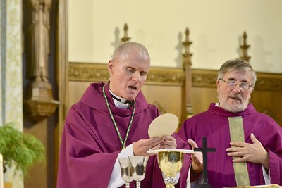 Bishop Mark Brennan at St. Anthony
