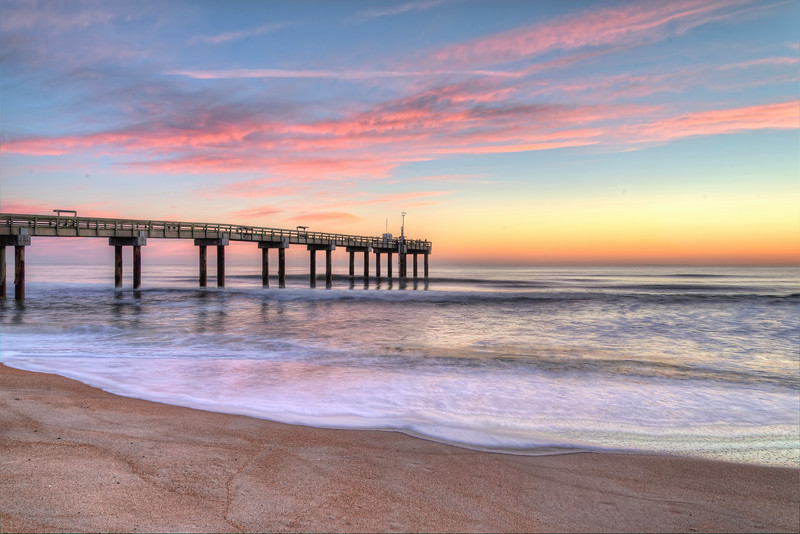 St Augustine Sunrise at the Pier
