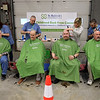 The annual St. Baldrick's event has held at the Pepperell Fire Department on Park Street on Wednesday night in Pepperell. Participants donate money to get people to cut their hair short to raise money for childhood cancer research. Participents get their hair cut at the event. SENTINEL & ENTERPRISE/JOHN LOVE