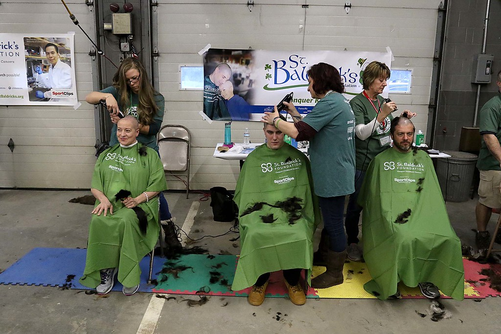 . The 16th annual St. Baldrick\'s fundraiser was held by the Pepperell Fire Department on Wednesday night, March 14, 2018. SENTINEL & ENTERPRISE/JOHN LOVE