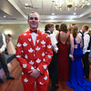 St. Bernards senior Paul Couture sports a canadian themed jacket for Saturday's junior/senior prom at the Sterling Country Club.  SENTINEL & ENTERPRISE JEFF PORTER
