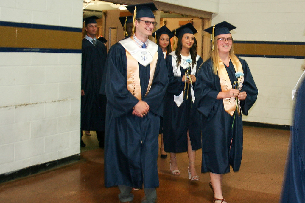 . St. Bernard\'s Central Catholic High School\'s Class of 2018  arrive for their graduation. SENTINEL & ENTERPRISE/JULIA SARCINELLI