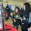 St. Bernard's Elementary School's Holiday Fair Saturday, Nov. 23, 2019. Spinning the wheel to win a prize a the fair is Heyna Lee, 11, and Jinna Do, 12, on right.SENTINEL & ENTERPRISE/JOHN LOVE