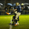 St. Bernards kicker Evan Benham kicks the extra point during the first half of play at home against Leicester High School on Friday.  Sentinel & Enterprise photo/Jeff Porter