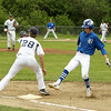 Photo Scott LaPrade - pitcher throws to 1st Baseman Matt Aronson player safe