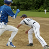 Photo Scott LaPrade - Scott Jarosz is out at 1st base by Matt Aronson