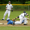 Photo Scott LaPrade - Great attempt by Parker Bigelow to tag Ben Elliott at 2nd base