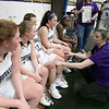St. Bernard's Central Catholic High School girls basketball Lowell Catholic High School Friday, Feb. 7, 2020 in Fitchburg. St. B's head coach Kate Dellechiaie during a time out in the first half. SENTINEL & ENTERPRISE/JOHN LOVE