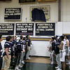 St. Bernard's basketball played Hudson High School on Thursday night, February 14, 2019. At half time during the game the schools football team unveiled their Division VIII State Champions 2018 banner. SENTINEL & ENTERPRISE/JOHN LOVE