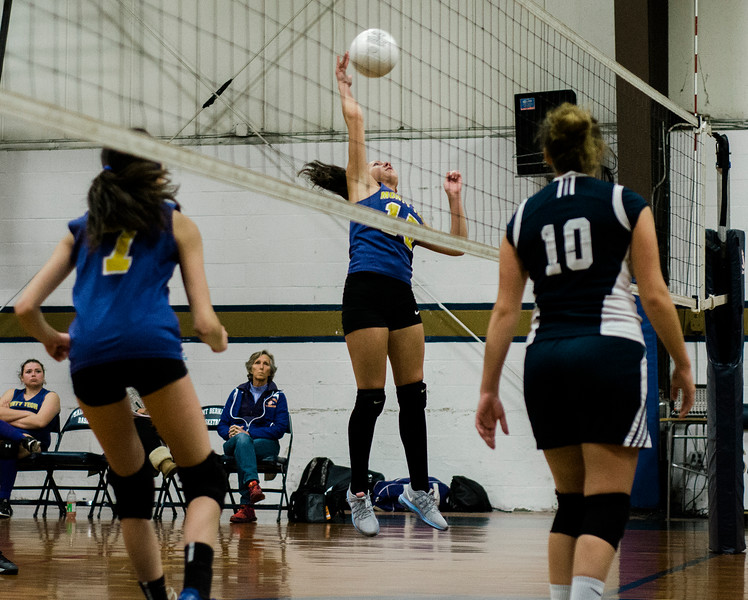 Monty Tech's Jessy Silvera in action against St. Bernard's on Wednesday afternoon. SENTINEL & ENTERPRISE / Ashley Green