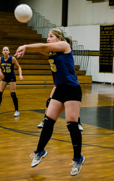 Monty Tech's Kassidy Jones in action against St. Bernard's on Wednesday afternoon. SENTINEL & ENTERPRISE / Ashley Green