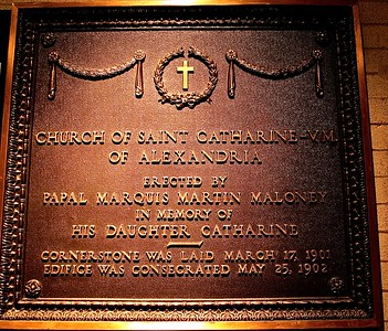 Plaque in Memory of Martin Maloney's Contribution