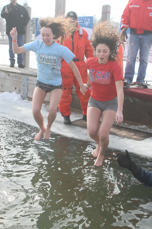 . Polar Plunge participants gathered at the St. Clair Boat Harbor for the 2018 St. Clair Polar Plunge on Feb. 18. The event raised funds for Special Olympics Michigan. (Photos by Dave Angell)