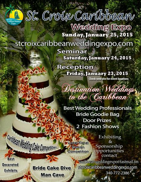 St. Croix Caribbean Wedding Expo Flyer 2