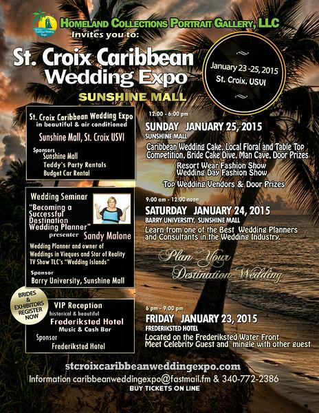 St. Croix Caribbean Wedding Expo Flyer 3