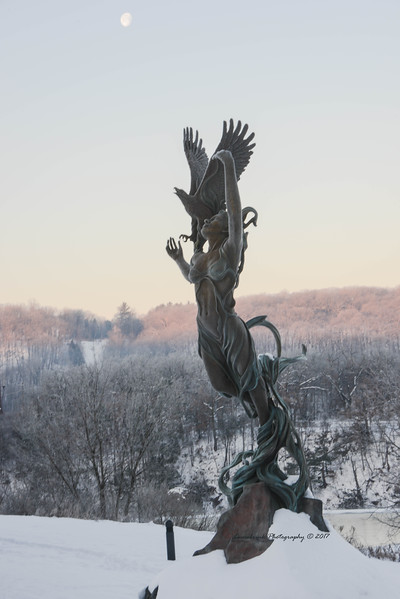 Frozen River Spirit and the Moon