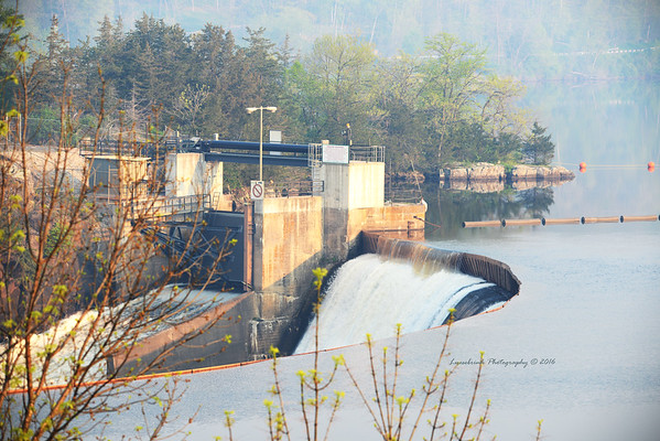 Smokey Morning at St. Croix Falls Dam
