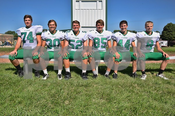 -Messenger photo by Britt Kudla <br /> St. Edmond's Returning Letterwinners are (left to right): Sean Flaherty, Logan Fear, Charlie Doyle, Will Woodruff, Cade Naughton, and Jack Rasmussen