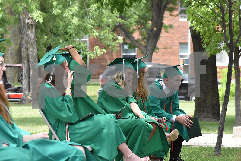 -Messenger photo by Elijah Decious<br /> <br /> St. Edmond's commencement ceremony, delayed by COVID-19, had emotional moments for some graduating students.