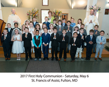 2017 1st Communion