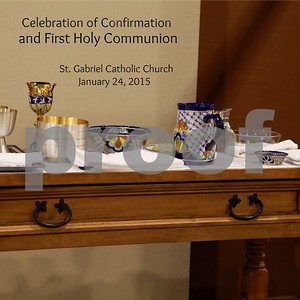 St. Gabriel 1st Comm/Confirmation Jan. 24, 2015