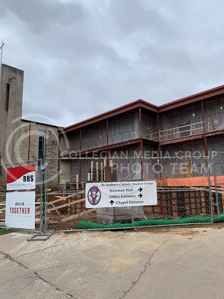 The St. Isidore's Catholic Student Center has been undergoing renovations recently and will close after Easter to finish construction. (Sophie Osborn | Collegian Media Group)