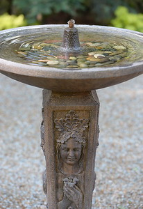 A nice fountain is seen during a tour of the garden at Ruth Guzley's residence in Chico, Calif. Friday April 14, 2017. This is one of the gardens that will be featured during the St. John Episcopal Church Garden Tour.  (Bill Husa -- Enterprise-Record)