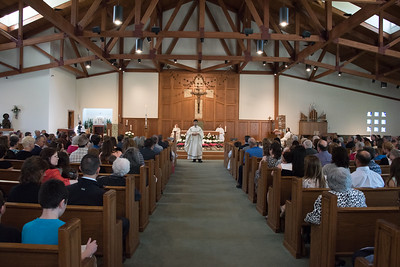St John Neumann First Communion 2017 first Mass