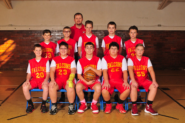 7th Grade Boys Basketball Red