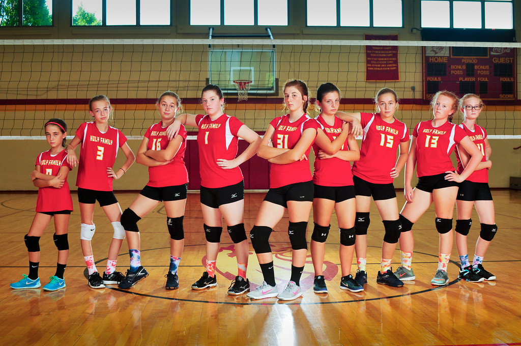8th Grade Girls Volleyball Ram Photo
