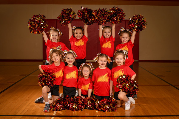 Basektball Cheerleaders Group 1