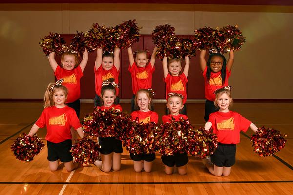 Basektball Cheerleaders Group 3