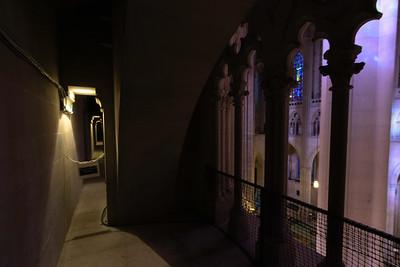 Triforium level at St. John the Divine