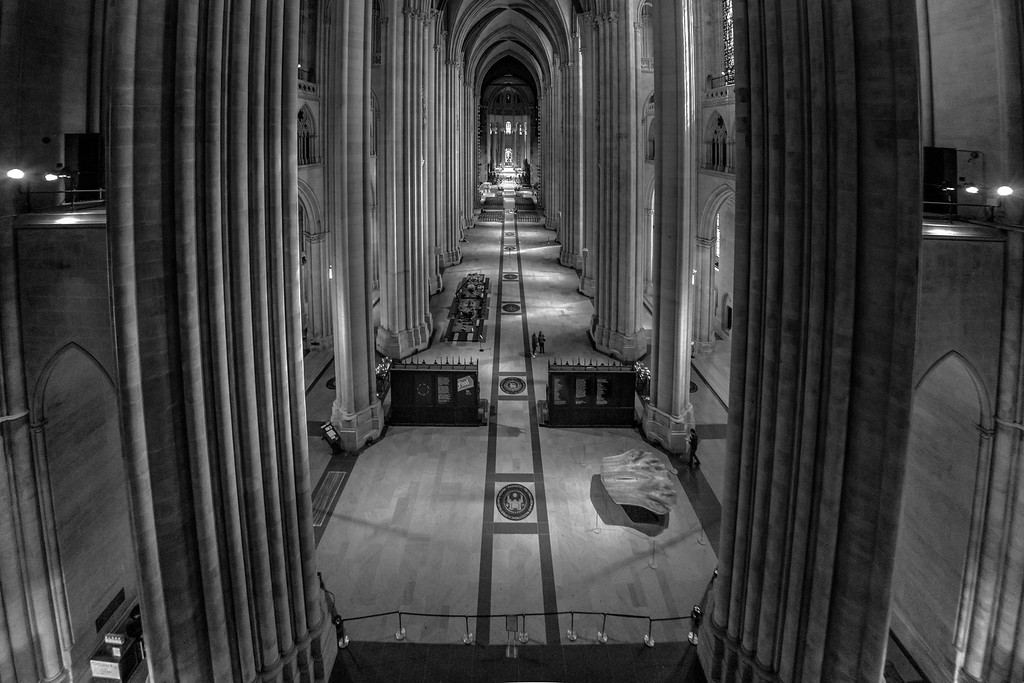 High up in the Cathedral