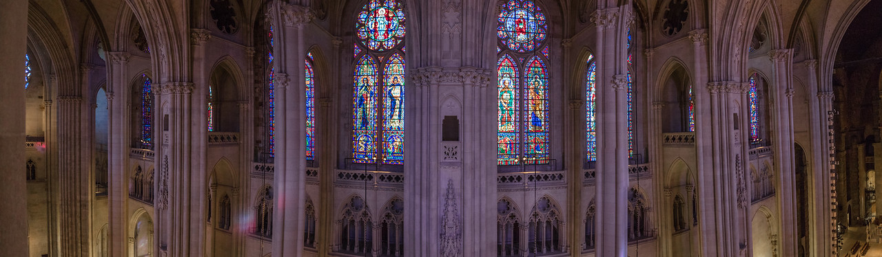 Panorama from high up within St. John the Divine