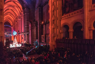 View of the Paul Winter Solstice Concert from the organ loft