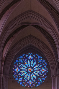 Rose Window and Vaulted Ceilings