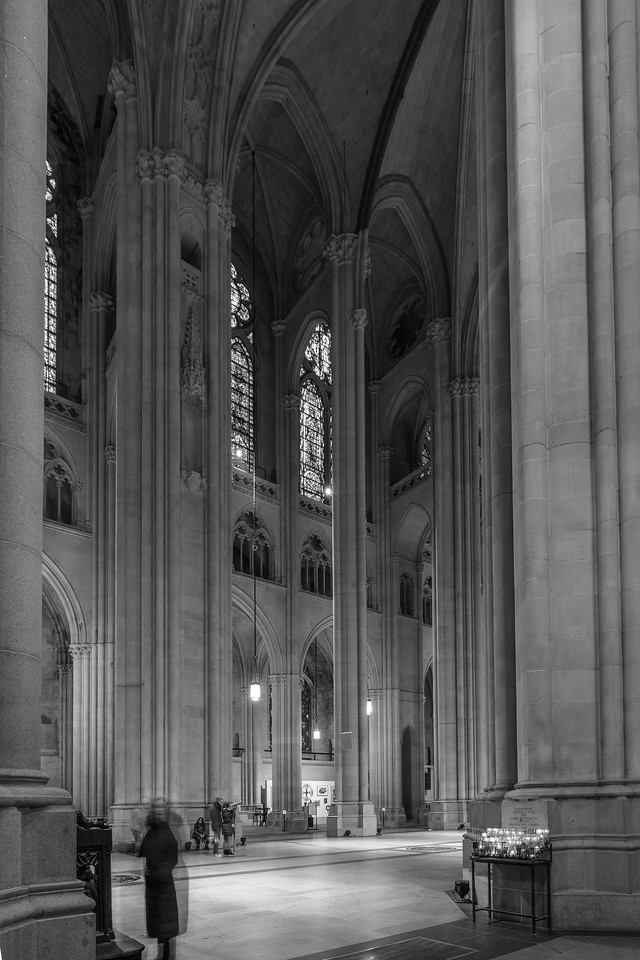 St. John the Divine Nave Black and White