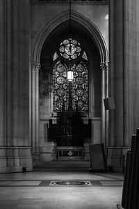 Nave aisle stained glass window